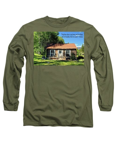 Thoreau--three Chairs Long Sleeve T-Shirt