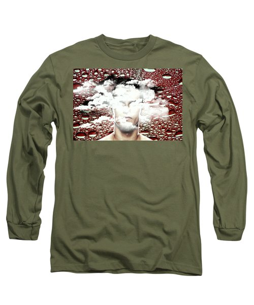 Thoughts Are Like Clouds Passing Through The Sky Long Sleeve T-Shirt