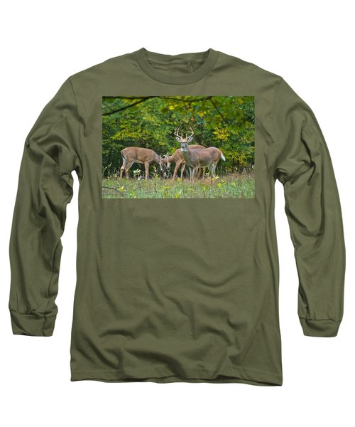 Three Bucks_0054_4463 Long Sleeve T-Shirt by Michael Peychich