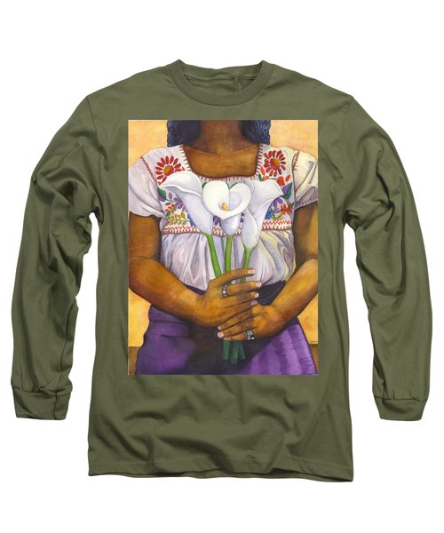 Three Calla Lilies Long Sleeve T-Shirt