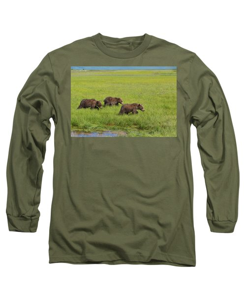 Three Cubs Moving On Long Sleeve T-Shirt