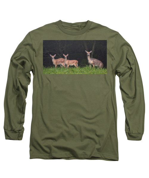 Three Does Long Sleeve T-Shirt