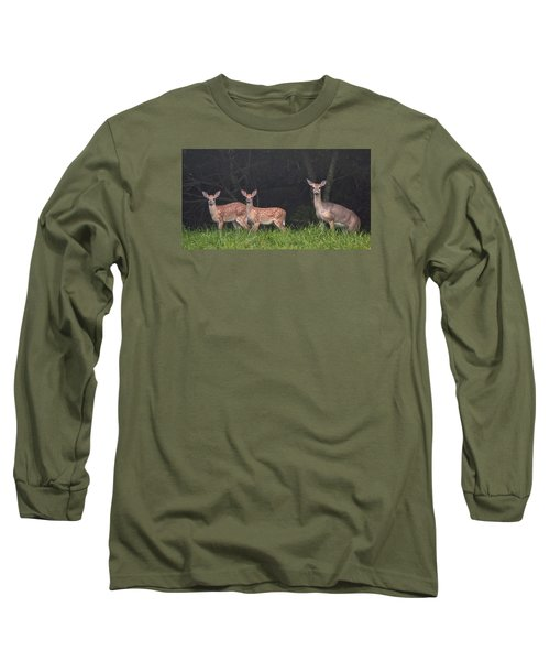 Three Does Long Sleeve T-Shirt