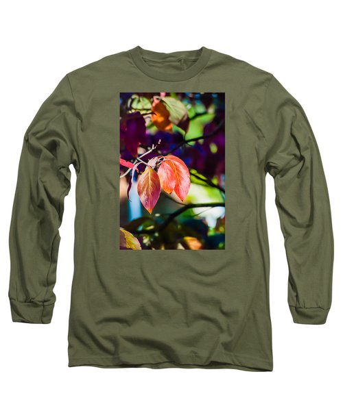 Three Leaves - 9583 Long Sleeve T-Shirt by G L Sarti