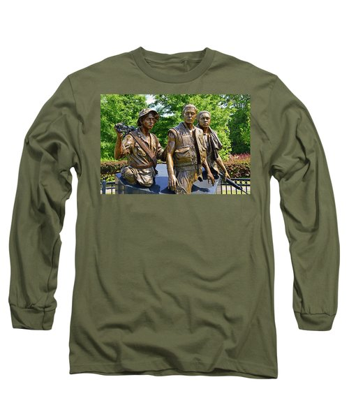 Three Soldiers Monument Long Sleeve T-Shirt