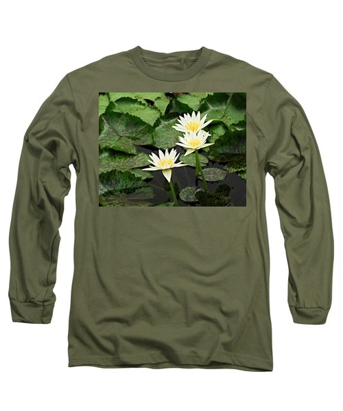 Three Water Lilies Long Sleeve T-Shirt