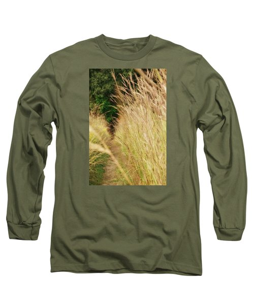 Long Sleeve T-Shirt featuring the photograph Through The Tall Grass by Nikki McInnes