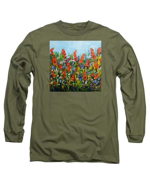 Through The Wild Flowers Long Sleeve T-Shirt