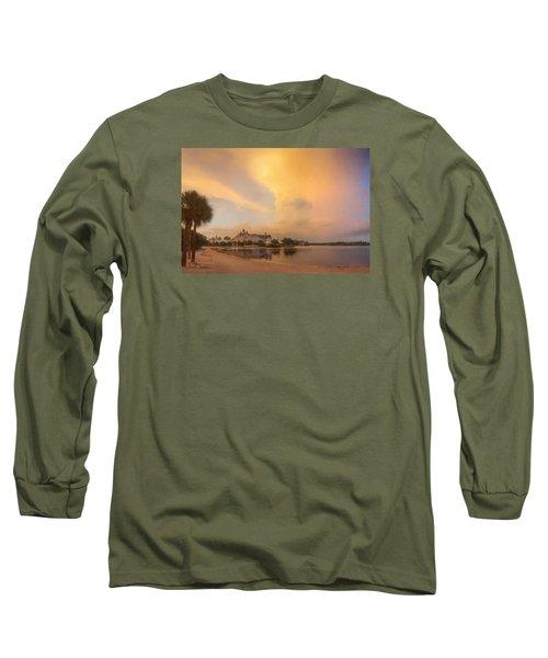 Thunderstorm Over Disney Grand Floridian Resort Long Sleeve T-Shirt