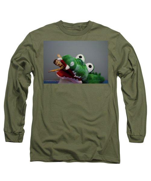 Tick Tock Crock Long Sleeve T-Shirt by Stefanie Silva