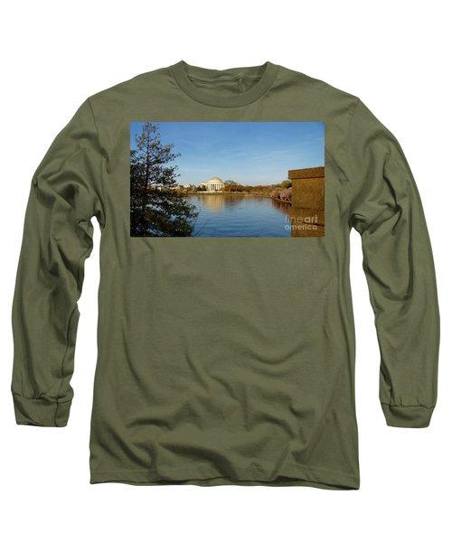 Tidal Basin And Jefferson Memorial Long Sleeve T-Shirt by Megan Cohen