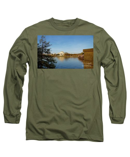 Tidal Basin And Jefferson Memorial Long Sleeve T-Shirt