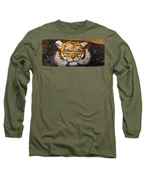 Tiger Long Sleeve T-Shirt by Ann Michelle Swadener