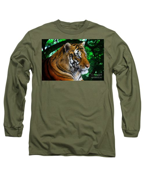 Tiger Contemplation Long Sleeve T-Shirt