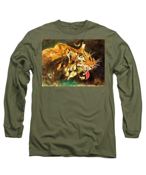 Tiger Long Sleeve T-Shirt by Khalid Saeed