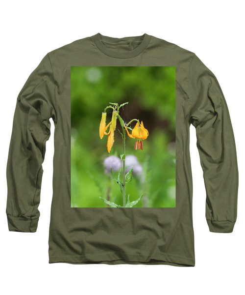 Tiger Lily In Olympic National Park Long Sleeve T-Shirt