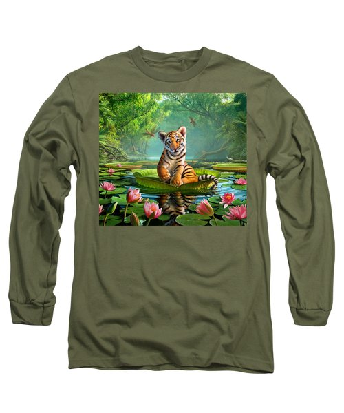 Tiger Lily Long Sleeve T-Shirt by Jerry LoFaro