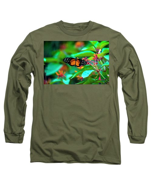 Long Sleeve T-Shirt featuring the photograph Tiger Longwing Butterfly by David Morefield