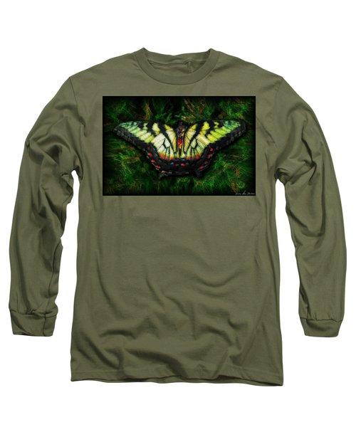 Tiger Swallowtail Long Sleeve T-Shirt by Iowan Stone-Flowers