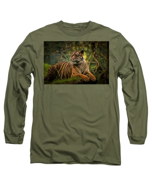Long Sleeve T-Shirt featuring the photograph Tigers Beauty by Scott Carruthers