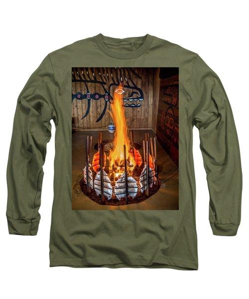 Tillicum Village Salmon Cook Long Sleeve T-Shirt