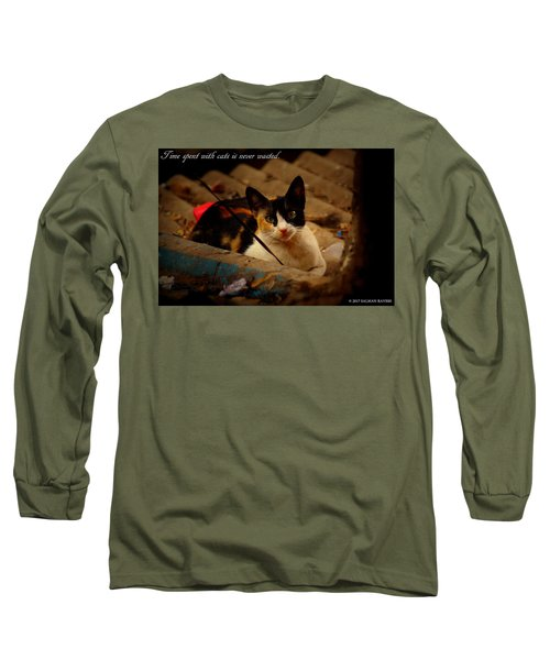Time Spent With Cats. Long Sleeve T-Shirt