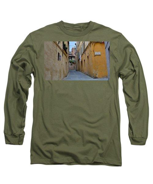 Tiny Street In Siena Long Sleeve T-Shirt