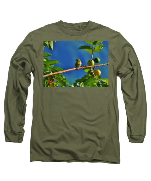 Tiny White Eye And Guava Long Sleeve T-Shirt
