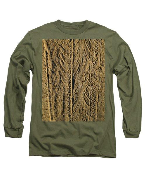 Tire Tracks Long Sleeve T-Shirt by R  Allen Swezey