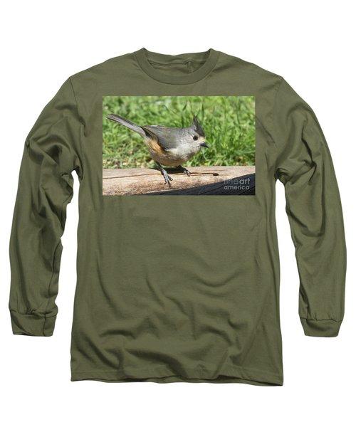Titmouse Close Up Long Sleeve T-Shirt