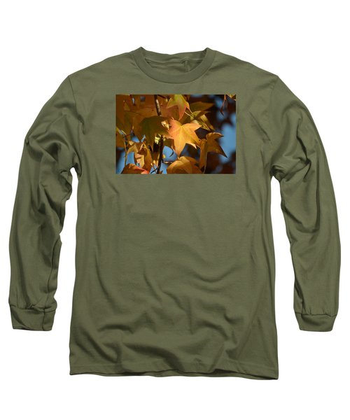 Long Sleeve T-Shirt featuring the photograph To Me Is Fun It Feels Like Fall.  by Alex King