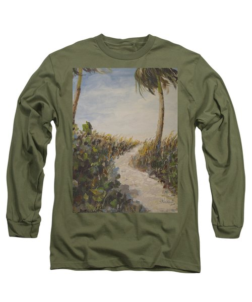 To The Beach Long Sleeve T-Shirt by Alan Lakin