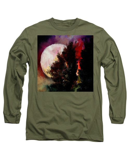 To The Moon And Back Long Sleeve T-Shirt by Michele Carter