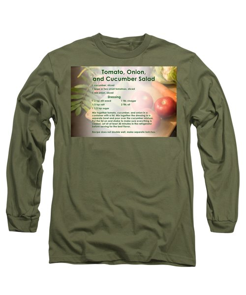 Tomato Onion Cucumber Salad Recipe Long Sleeve T-Shirt