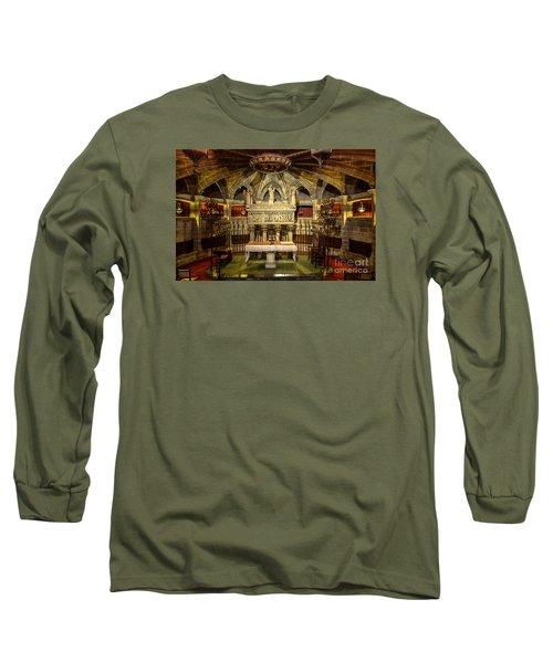 Tomb Of Saint Eulalia In The Crypt Of Barcelona Cathedral Long Sleeve T-Shirt