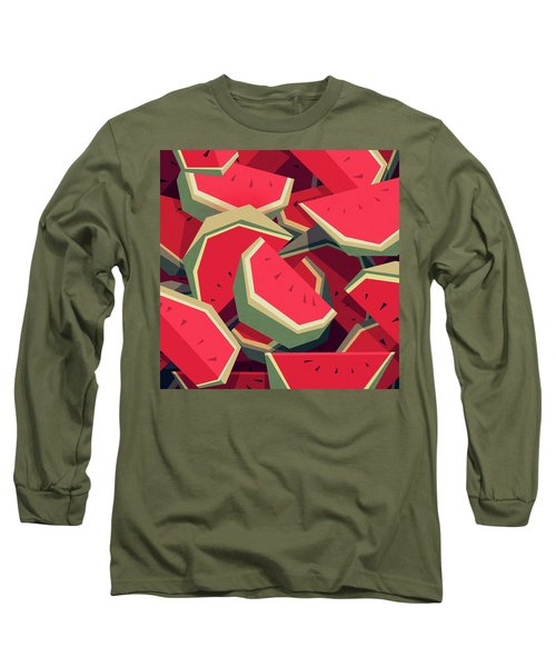 Too Many Watermelons Long Sleeve T-Shirt