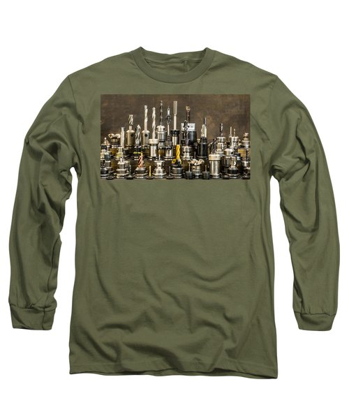 Toolmakers Cutting Tools Long Sleeve T-Shirt by Paul Freidlund