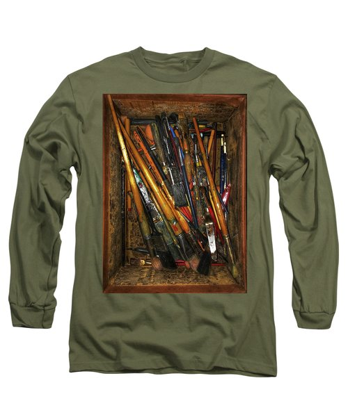 Tools Of The Painter Long Sleeve T-Shirt by Jame Hayes