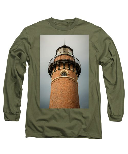 Long Sleeve T-Shirt featuring the photograph Top Of Little Sable Point Lighthouse by Adam Romanowicz