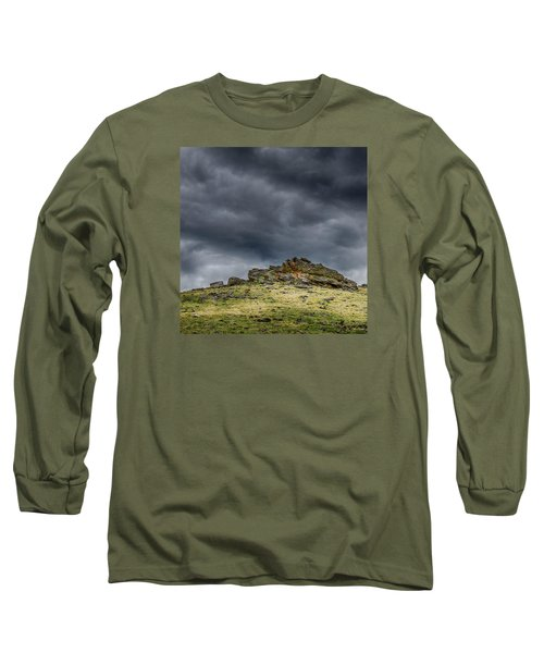 Top Of The Mountain Long Sleeve T-Shirt by Mary Angelini