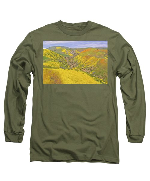 Long Sleeve T-Shirt featuring the photograph Top Of The Temblor Range by Marc Crumpler