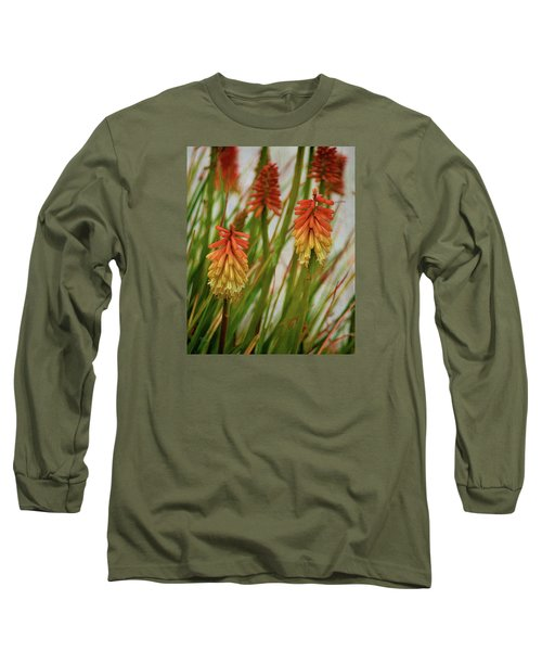 Torch Lily At The Beach Long Sleeve T-Shirt by Sandi OReilly