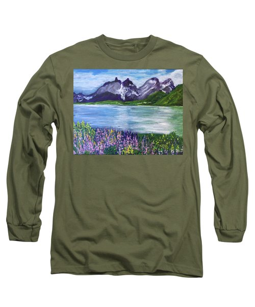 Torres Del Paine In Chile Long Sleeve T-Shirt
