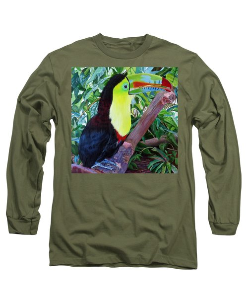 Toucan Portrait 2 Long Sleeve T-Shirt by Marilyn McNish