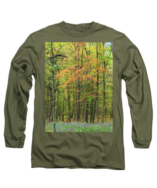 Touch Of Autumn Long Sleeve T-Shirt by Cedric Hampton