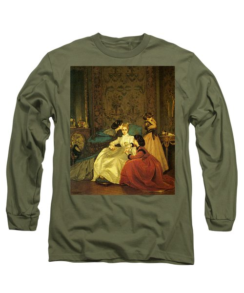 Toulmouche Auguste The Reluctant Bride Long Sleeve T-Shirt by Auguste Toulmouche