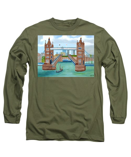Tower Bridge London Long Sleeve T-Shirt by Magdalena Frohnsdorff