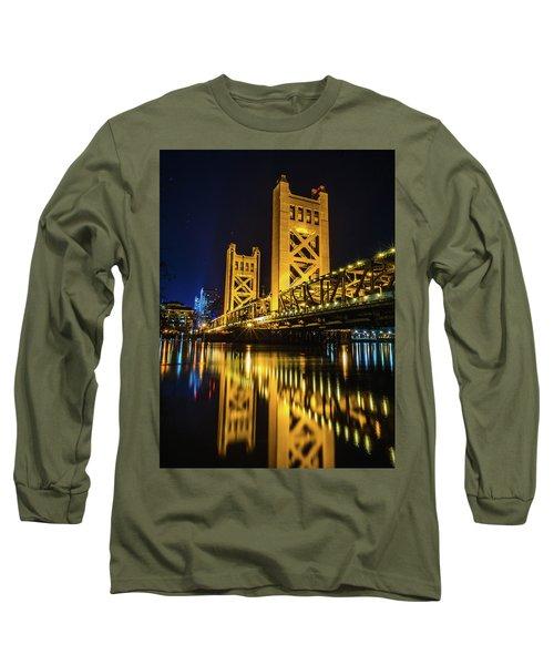 Tower Reflections Long Sleeve T-Shirt by Alpha Wanderlust