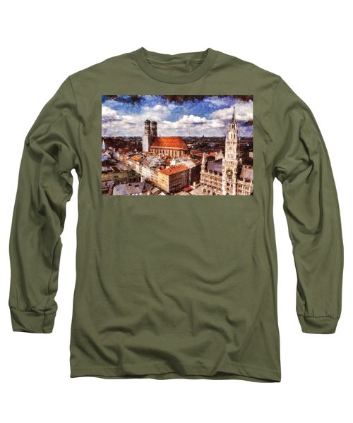 Town Hall. Munich Long Sleeve T-Shirt by Sergey Simanovsky