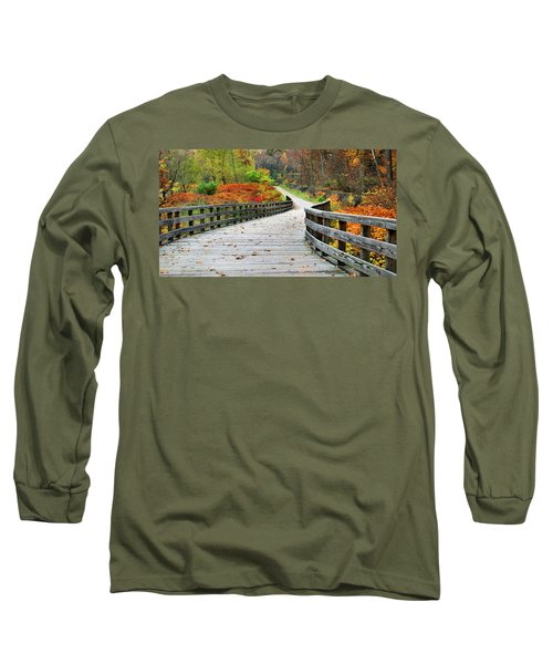 Towpath In Summit County Ohio Long Sleeve T-Shirt